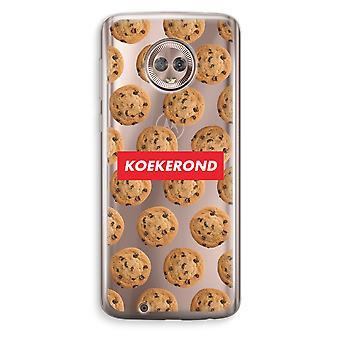 Motorola Moto G6 transparant Case (Soft) - Koekerond