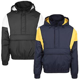 Urban klassikere mænds windbreaker 2-tone pull over jakke