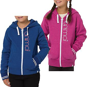 Animal Girls Kids College Long Sleeve Zipped Hooded Sweatshirt Hoodie Jacket Top
