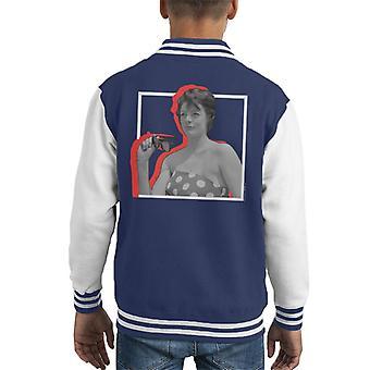 TV Times Maggie Smith Retro Frame Kid's Varsity Jacket