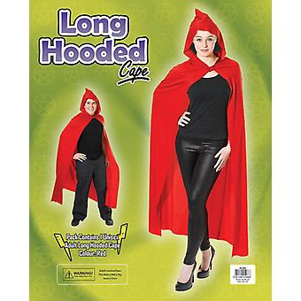 Bnov Long Red Kapuzen Cape