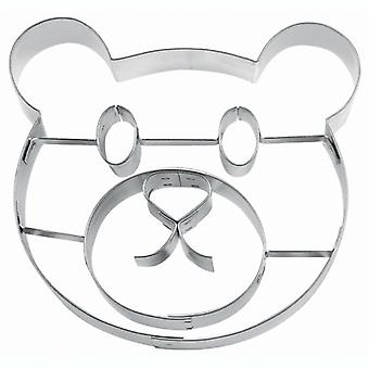 Panda party cookie cutter Panda bear head 10 cm cookie form Panda party birthday decoration