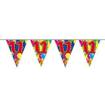 Pennant chain 10 m number 11 years birthday decoration party Garland