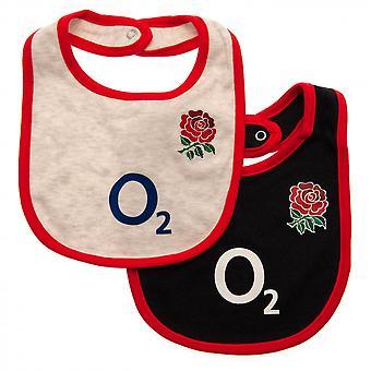England RFU Baby Bibs (Pack Of 2)