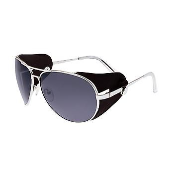 Razza Eclipse titanio Polarized Occhiali da sole - argento/nero