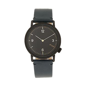 Simplify The 5500 Leather-Band Watch - Black/Slate