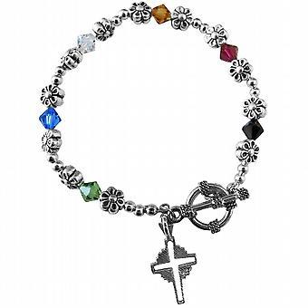 Ручной работы спасения браслет австрийские кристаллы Серебряный крест Charm