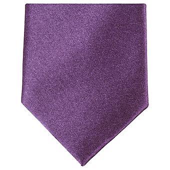 Knightsbridge Neckwear Slim Polyester Tie - Dark Purple
