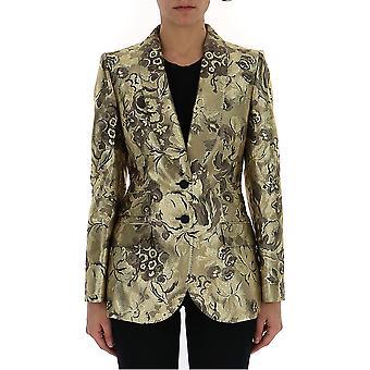 Dolce E Gabbana F295ttfjm2rs0997 Kvinnor's Guld Polyester Blazer