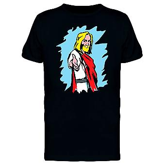 Jesus In Pop Comic Style Tee Men's -Image by Shutterstock