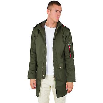 Alpha industries mens coat hooded Teflon