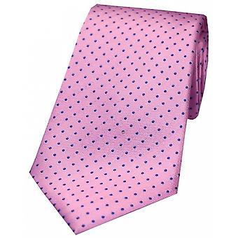 Дэвид ван Хаген Pin шелковый галстук Dot - Розовый/синий