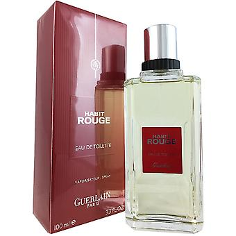 Habit rouge for mænd af guerlain 3,4 oz eau de toilette spray