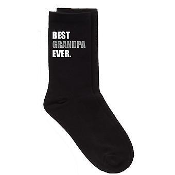 Mens Best Grandpa Ever V2 Black Calf Socks