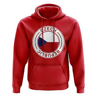 Czech Republic Football Badge Hoodie (Red)