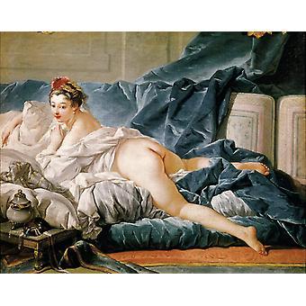 Dark Odalisk, Francois Boucher, 50x40cm