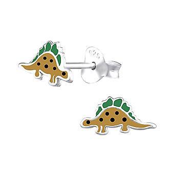 Children's Sterling Silver Dinosaur Stud Earrings