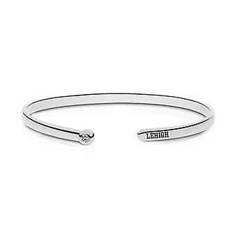 Lehigh University Engraved Sterling Silver Diamond Cuff Bracelet