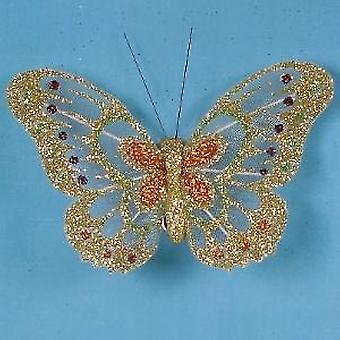 Artificial Glittered Butterflies, Two Tone
