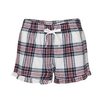 SF Womens/Ladies Tartan Frill Shorts