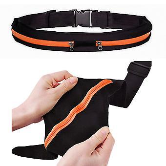 Cintura sportiva con tasche 2pcs, per portafoglio, chiavi, ETC mobile.