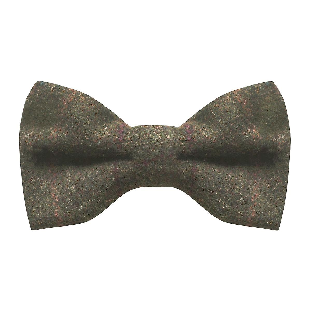 Heritage Check Moss Green Bow Tie, Tweed, Country Bow Tie