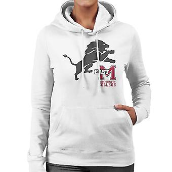 East Mississippi Community College Dark Lion Logo Women's Hooded Sweatshirt