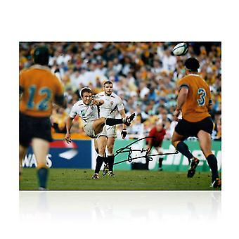 Jonny Wilkinson assinado 2003 Rugby World Cup foto: Moment of Glory