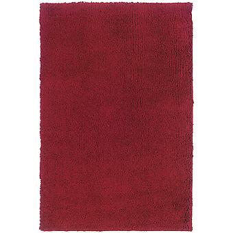 Loft collection 520r4 red solid area rug (6'7