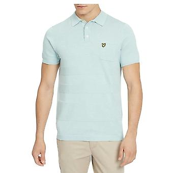 Lyle & Scott Knitted Textured Polo Powder Blue