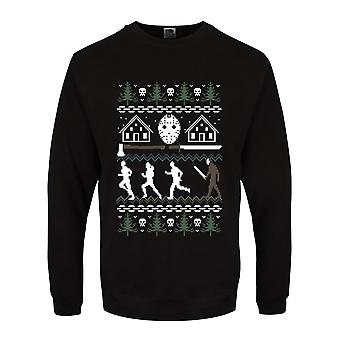Grindstore Mens Camp Crystal Lake Christmas jumpperi