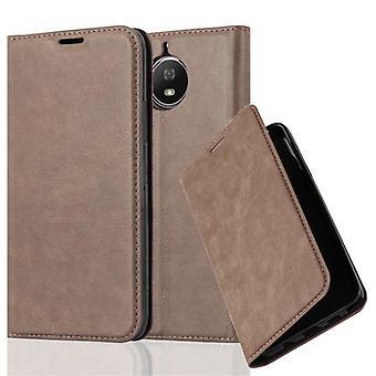 Case til Motorola MOTO G5S Foldbar telefonkasse - Cover - med standfunktion og kortbakke