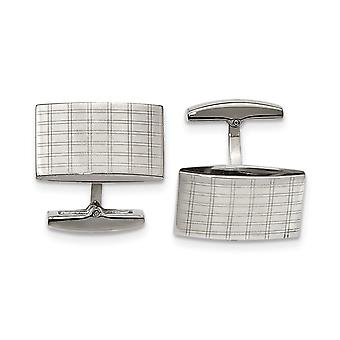 Stainless Steel Polished Laser Design Cuff Links Jewelry Gifts for Men