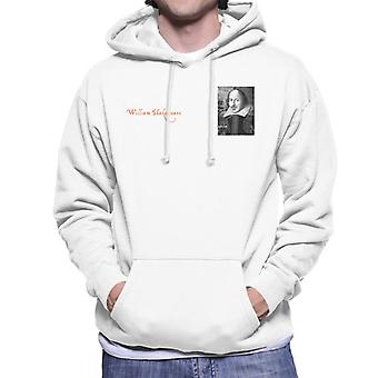 A.P.O.H William Shakespeare Black And White Portrait Men's Hooded Sweatshirt