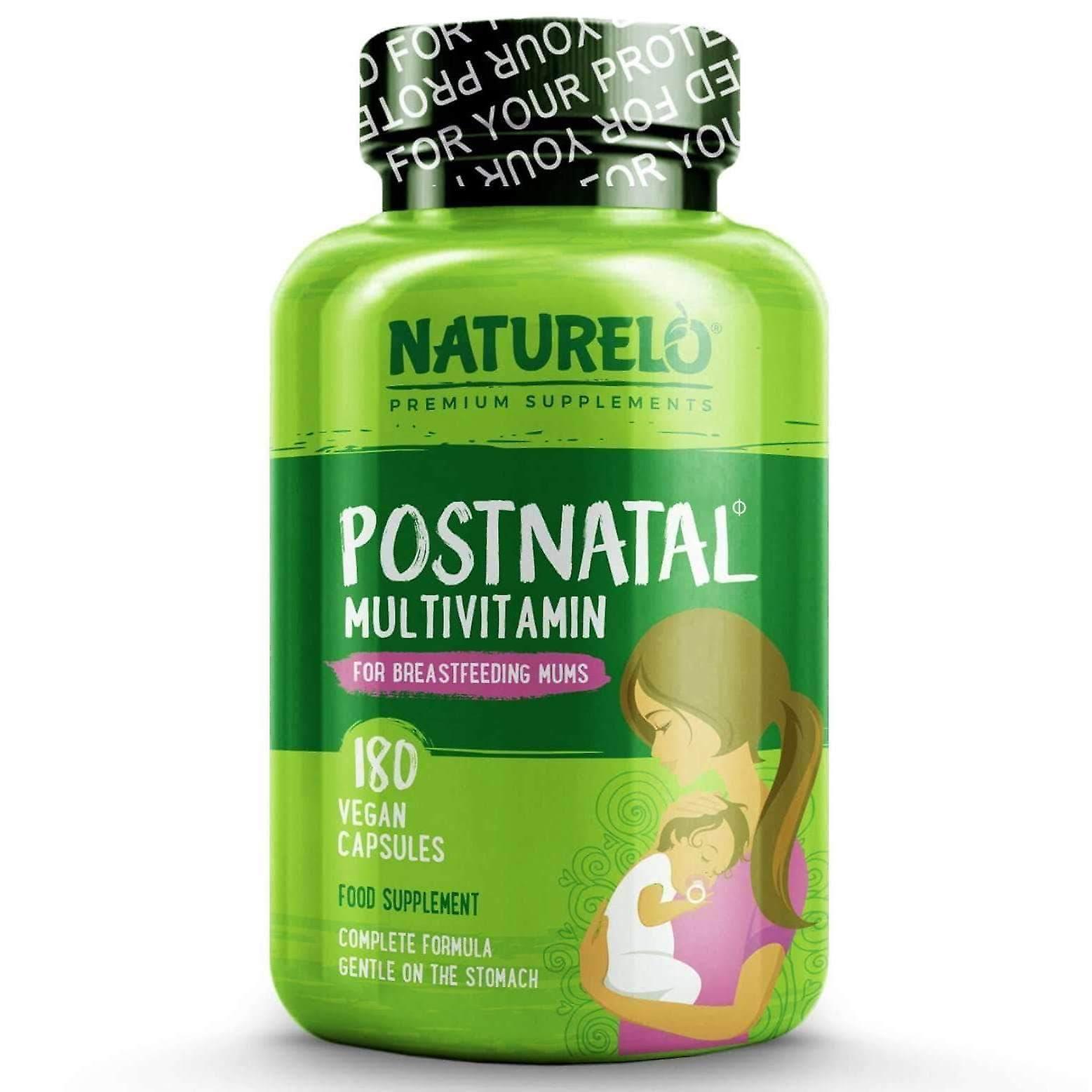 Postnatal hele mat multivitamin for nye mødre med naturlige vitaminer og urter-180 caps (vegan)
