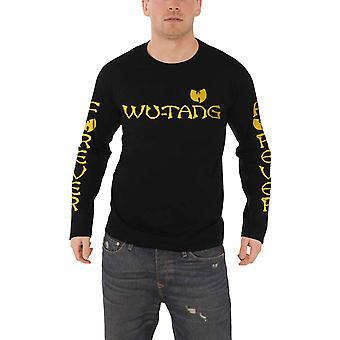 Wu Tang Clan T Shirt Fever Group Logo Official Mens New Black Long Sleeve
