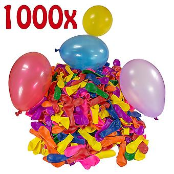 1000 Water Bombs Mega Pack - Water Balloons Air Balloon Red Yellow Purple Blue Orange Pink Green Colorful