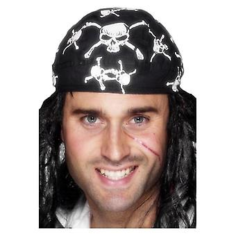 Bandana piraat, Skull and Crossbones Design Fancy Dress accessoire