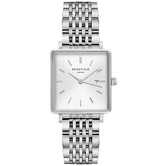 Rosefield boxy Quartz Analog Women's Watch with QWSS-Q08 Stainless Steel Bracelet