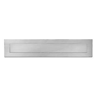 Serafini Briefeinwurf-Klappe aus Edelstahl V4A, Postschlitz recht-eckig  300 mm x 80 mm, Außen-Einwurfblende