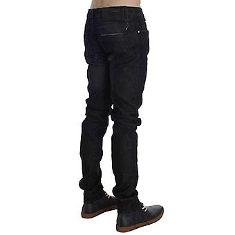 Black Cotton Stretch Slim Fit Jeans -- SIG3137477
