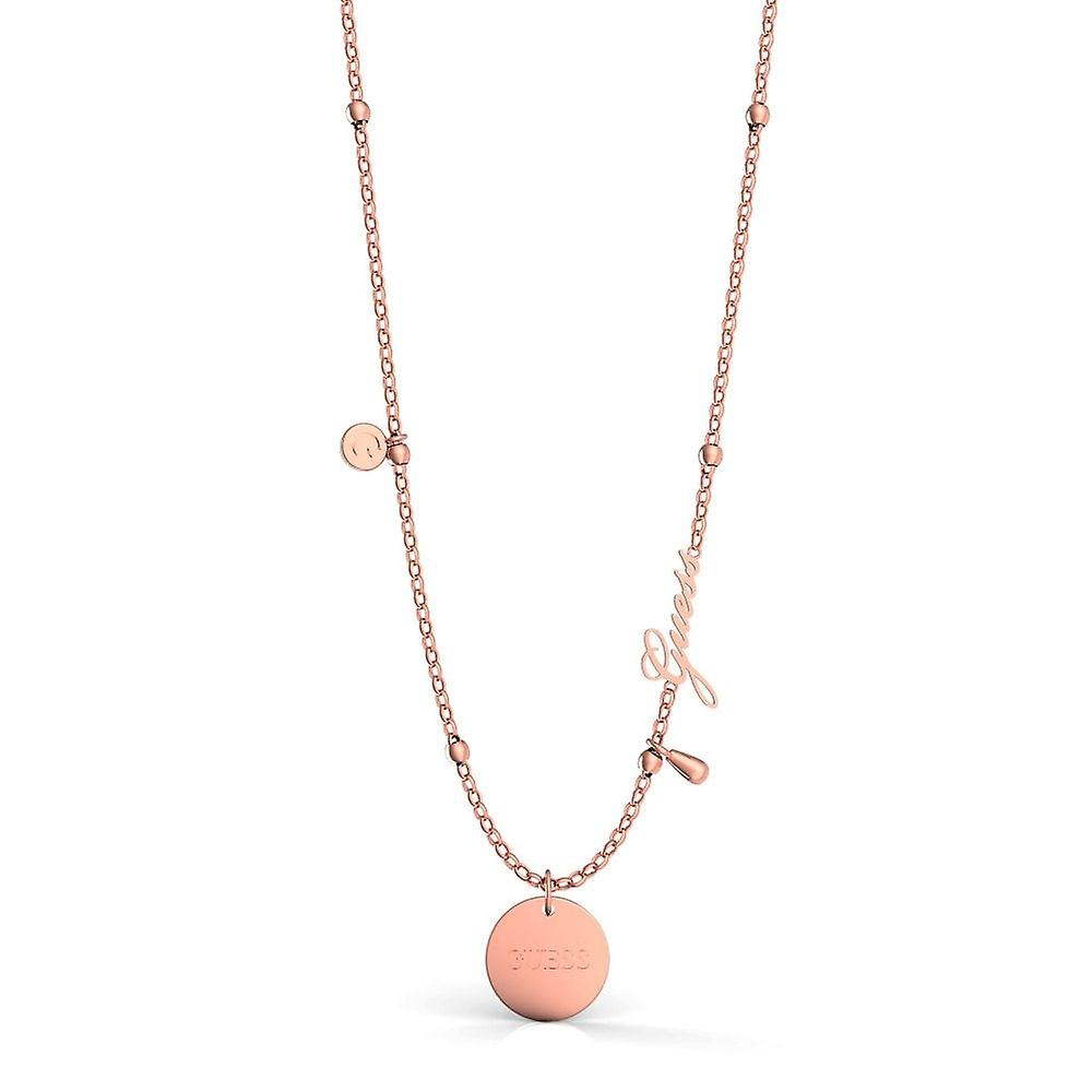Guess Jewellery 16-18''Greek Peony CharmRose Gold Necklace UBN29103