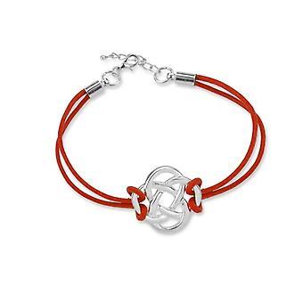 Celtic evigheden knotwork venskab armbånd-en rød læderrem