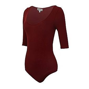 Instar Mode Women's Versatile Bodysuit Leotard In Varies Styles (BT37814 Burg...