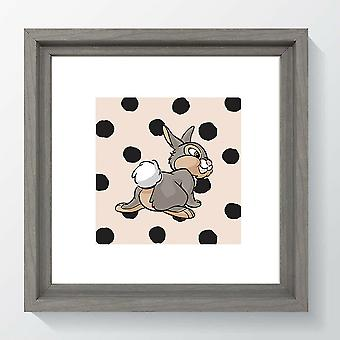 Framed Disney Picture Bambi Thumper Classic Wall Art Nursery Print Kids Room