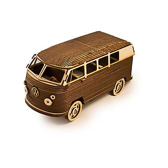 Crafts - hippie van - model kit raw wood