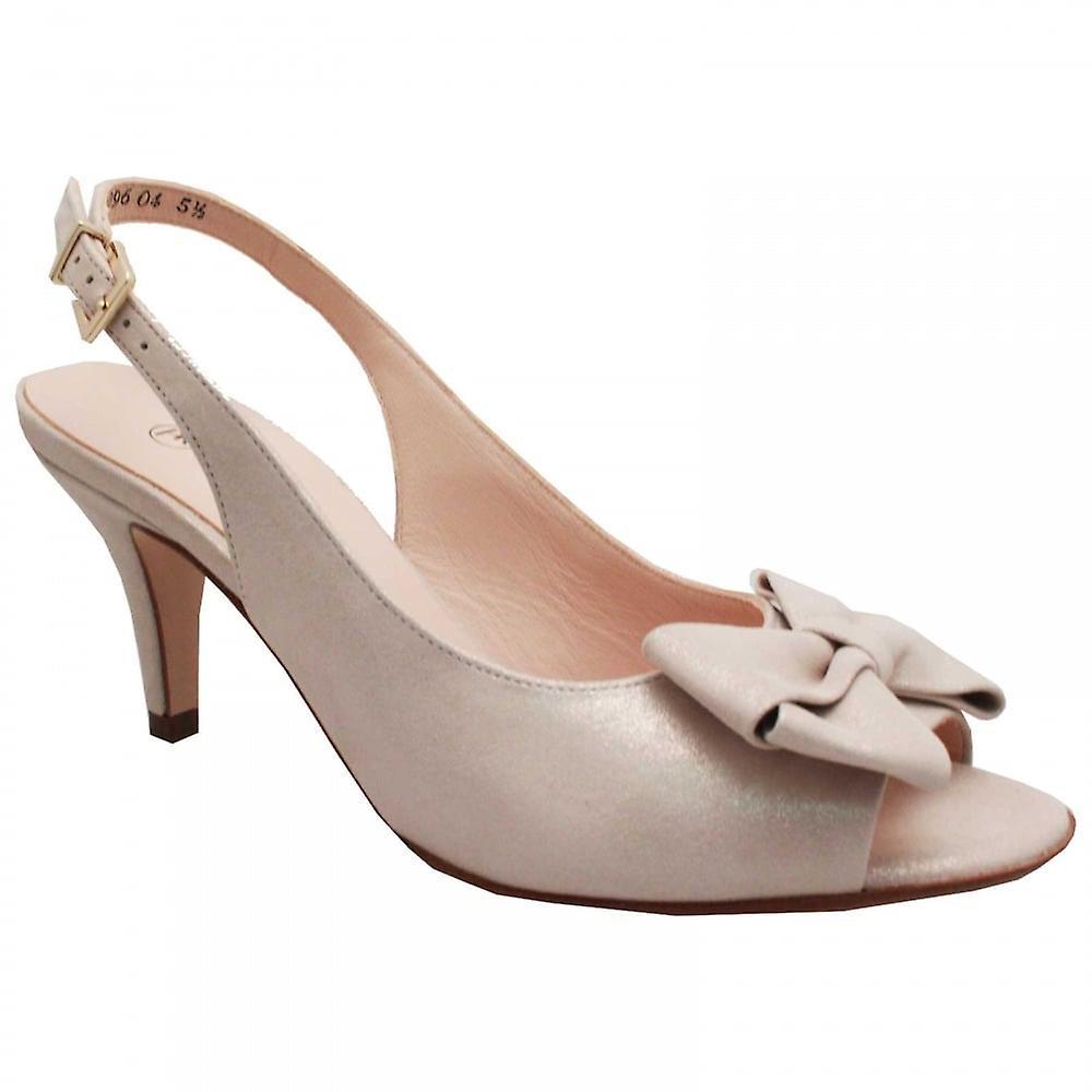 Peter Kaiser Berina Gold Sling Back Peep Toe High Heel Sandal EEMRz