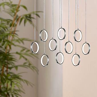 SOLEIL 10  Small Pendant Lighting Nickel - LED Hanging Light Fixture