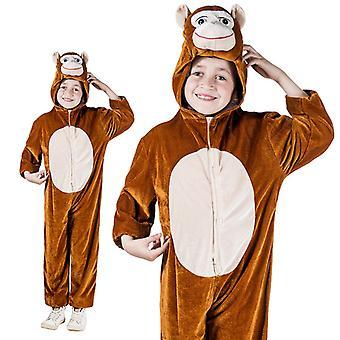 Brown monkey monkey monkey Mono children costume one piece monkey costume
