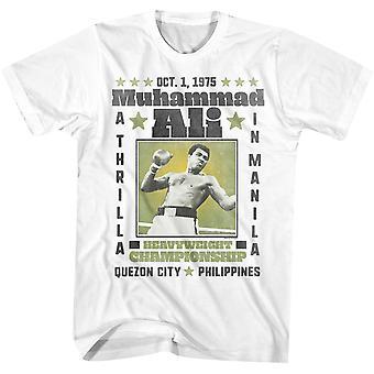 Amerikkalaiset klassikot Muhammad Ali Thrilla Manilassa T-paita-valkoinen